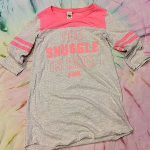 """PINK """"The Snuggle Is Real"""" Nightshirt"""